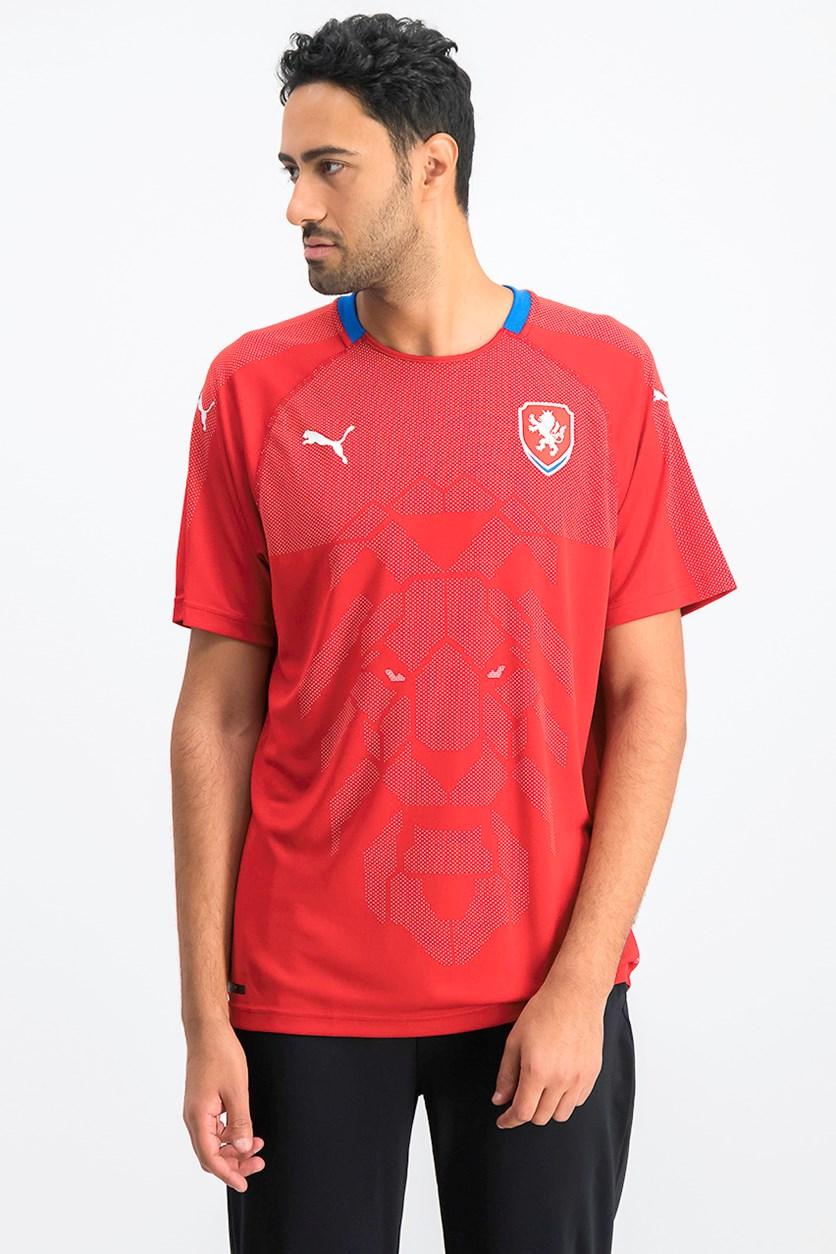 Men's Czech Republic Home Replica Shirt, Chili