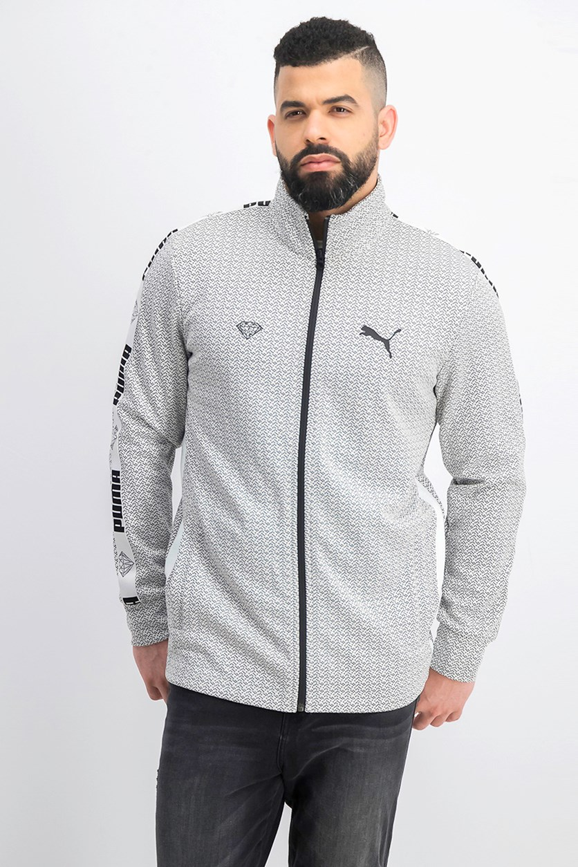 Men's Track Jacket, Black/White