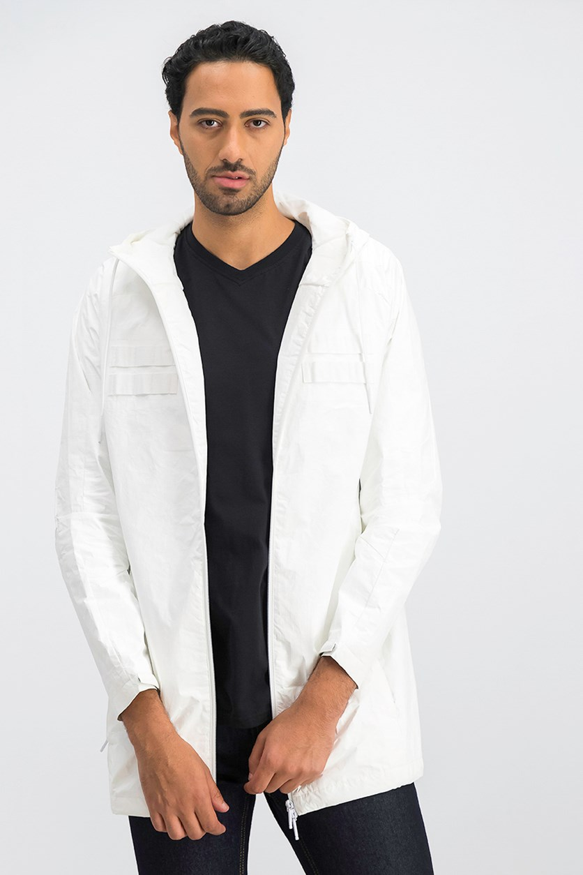Men's Lab Hooded Jacket, White