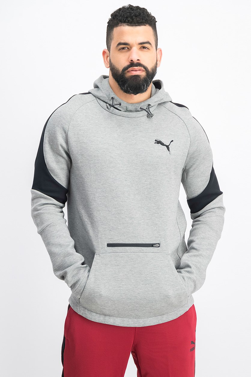 Men's Evostripe Move Hoody, Grey Heather