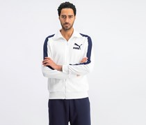 Puma Men's Full Zip Sweater, White