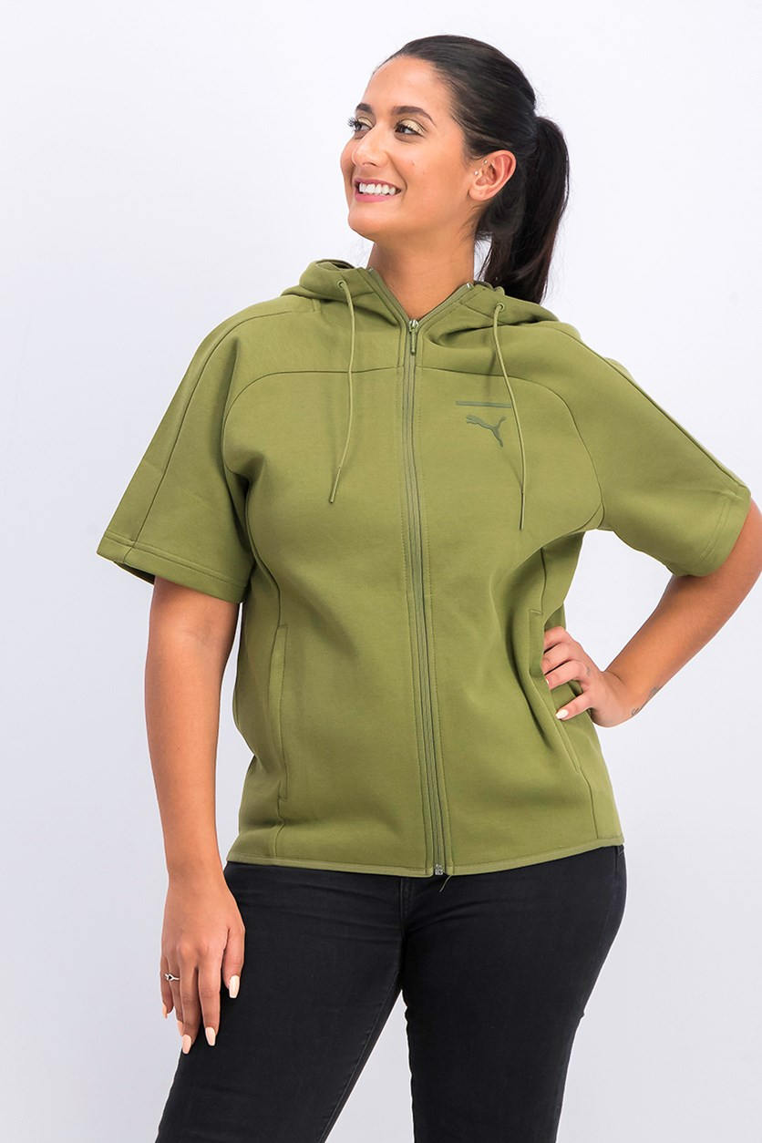 Women's Pace Lab Hooded Shirt, Olive
