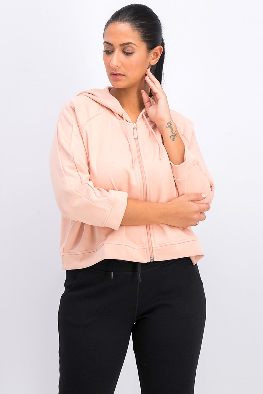 Women's Classic Structural T7 Hooded Jacket, Peach White