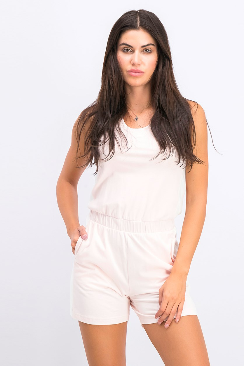 Women's Bow Summer Overall, Pearl