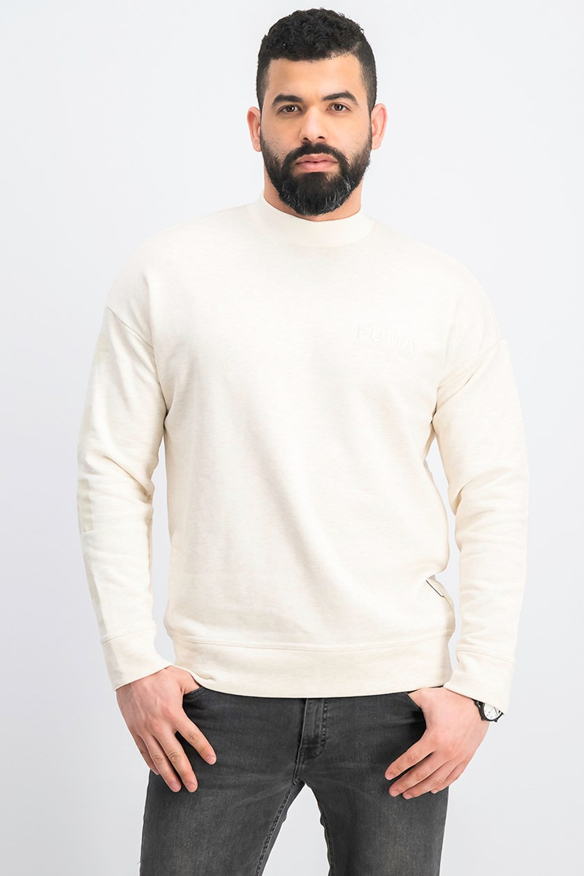 Men's Select Sweater, Ivory Heather