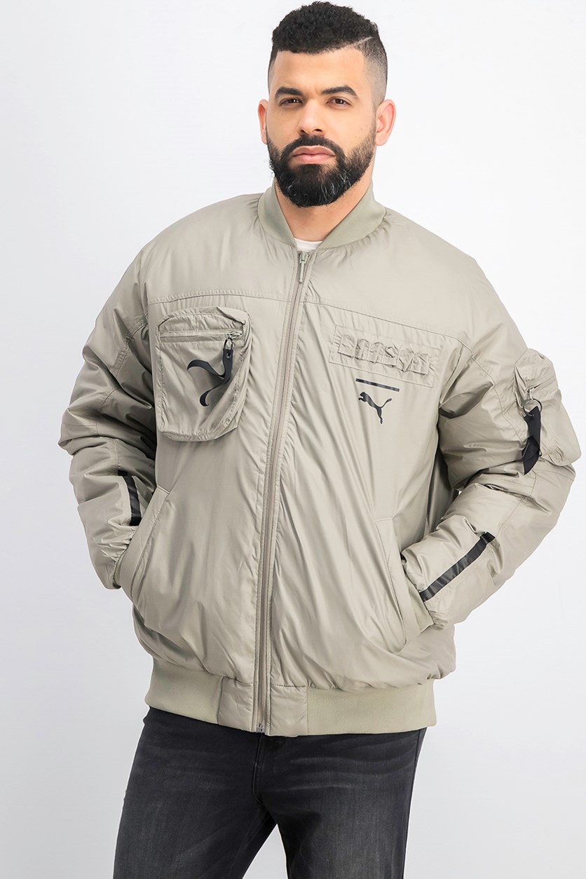 Men's Pace Lab Down Bomber Jacket, Elephant Skin