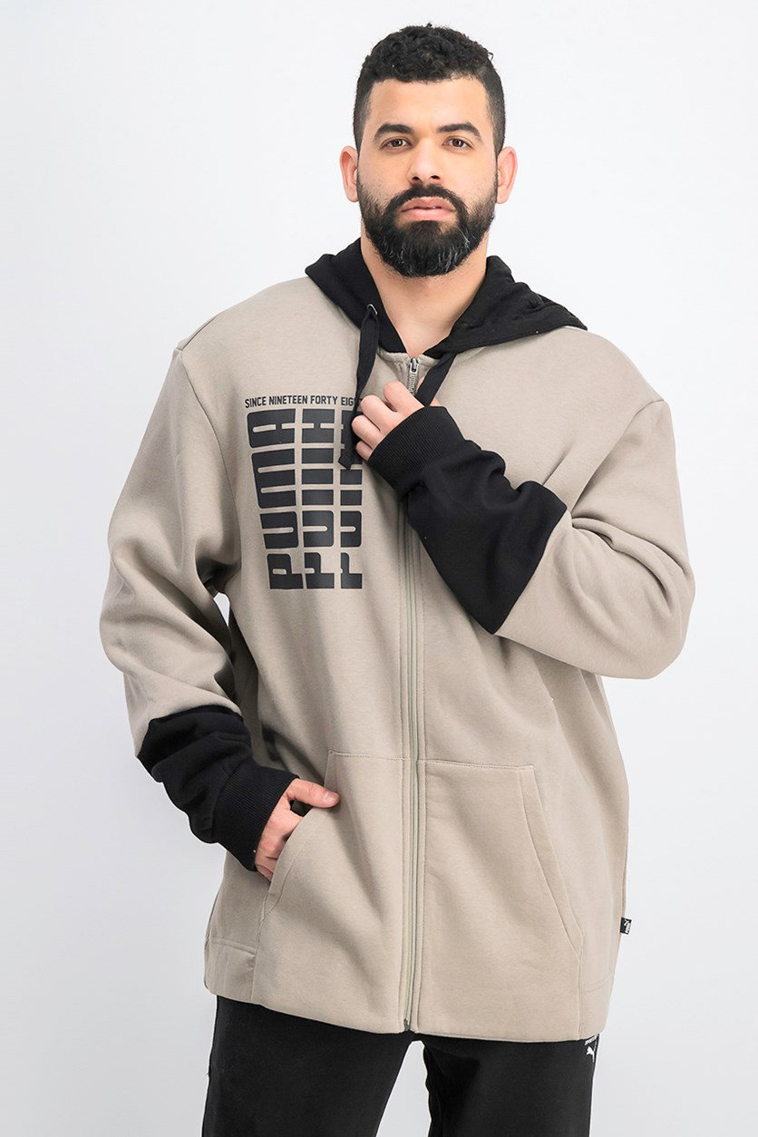 Men's Rebel Up Fz Hoodie, Taupe