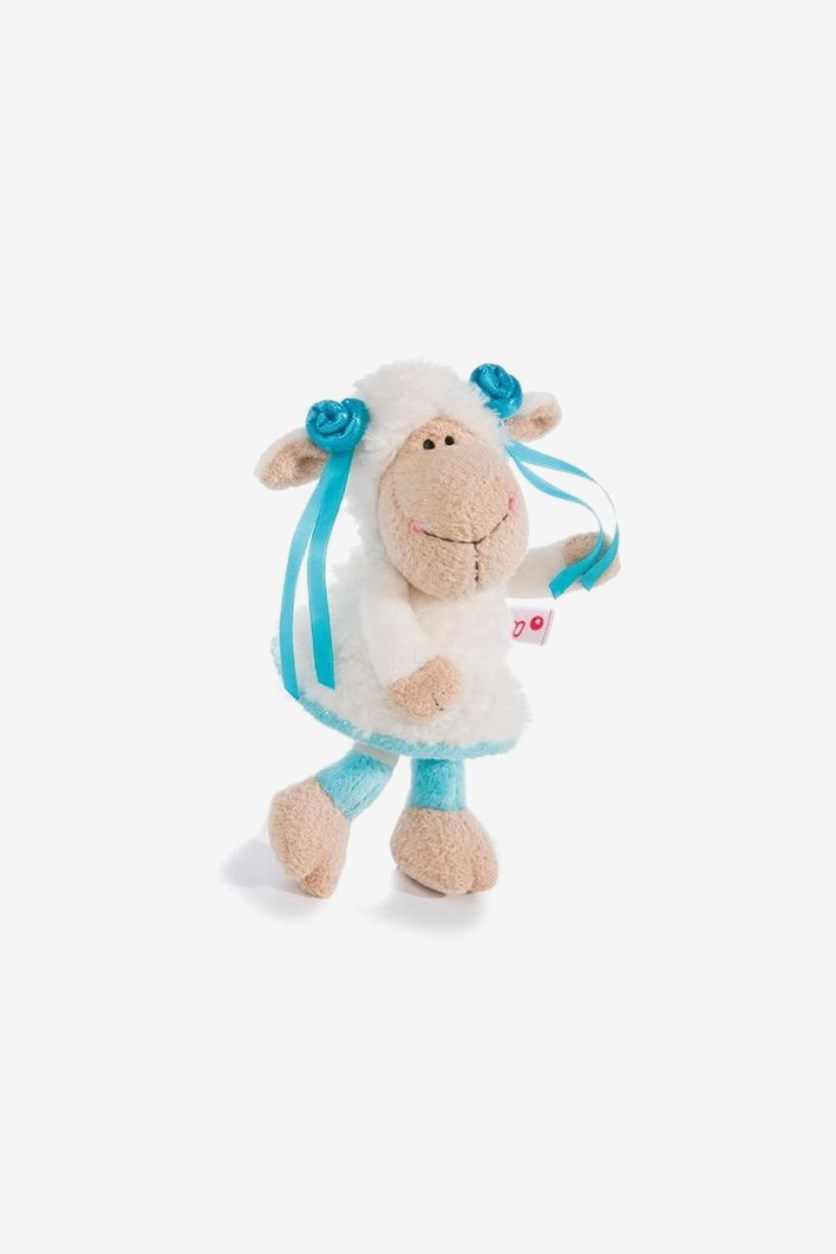 Jolly Summer Sheep Cuddly Toy, White/Brown/Turq