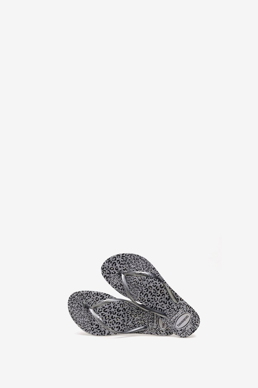 Havaianas Women's Slim Animals Sea Flip Flop, Gray Black
