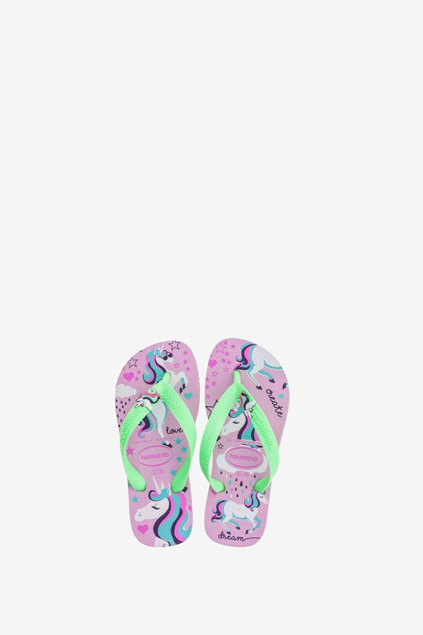 Havainas Kids Girl's Flip Flop Slipper, Rose Quartz