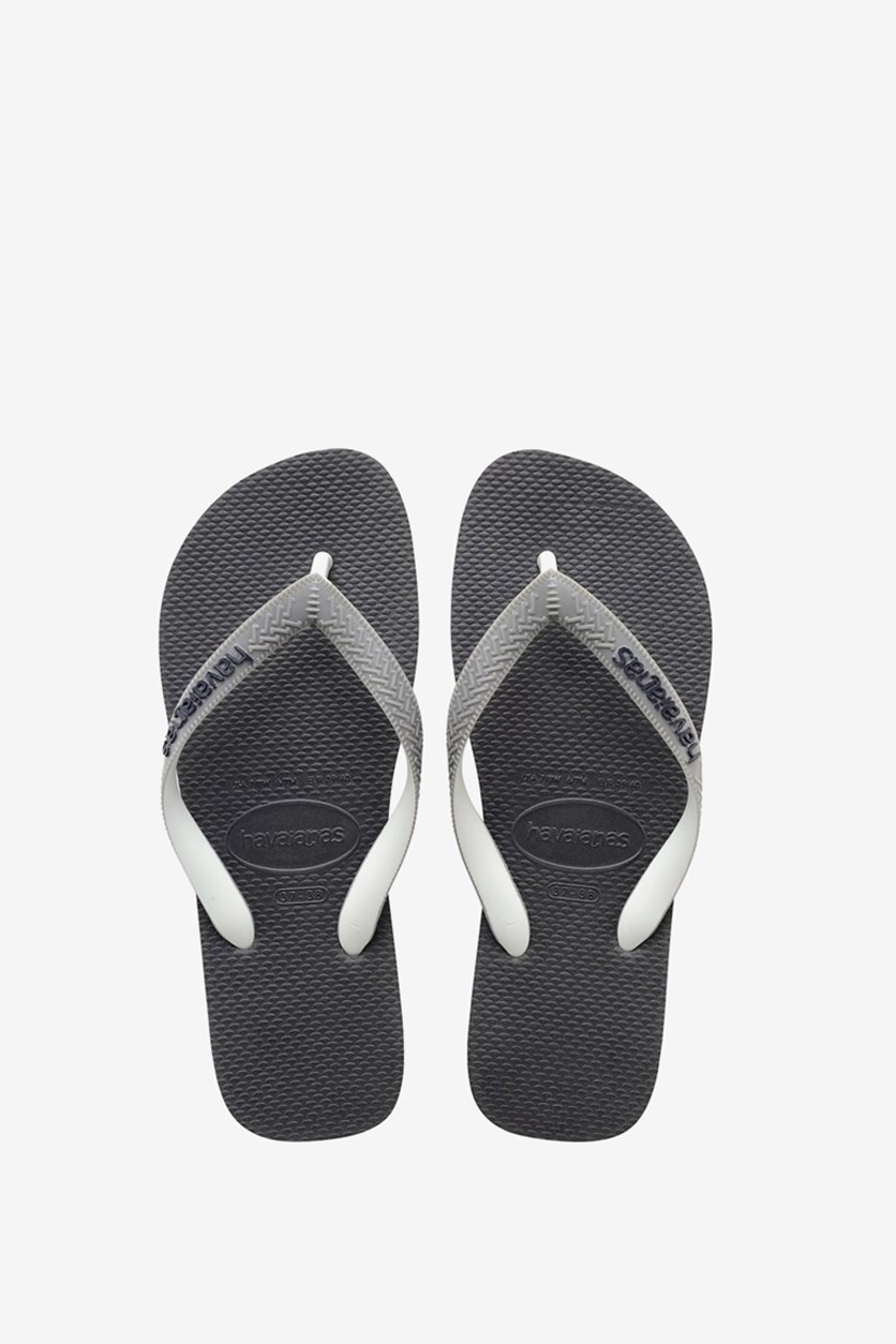 Unisex Top Mix Flip Flops, Graphite Grey/Black