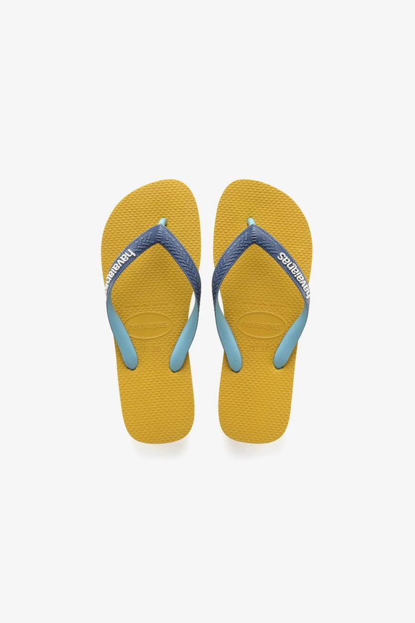 Men Top Mix Flip Flop, Mustard