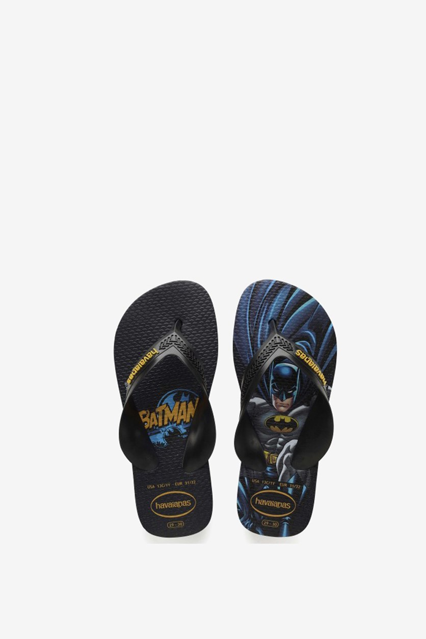 Kids Max Super Hero Batman Slippers, Black