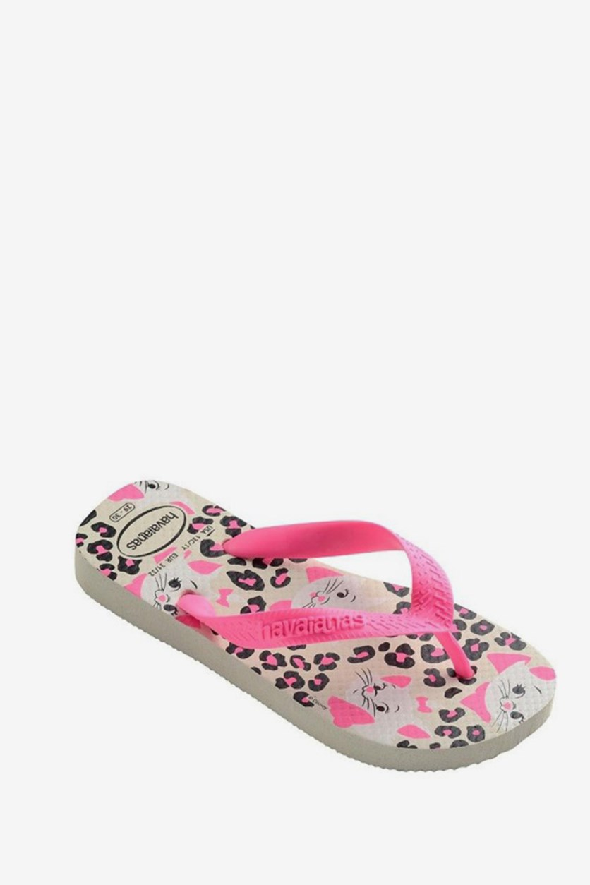 Girl's Top Marie Cf  Slippers, White/Pink