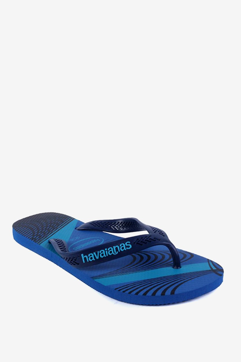 Men's Aero Graphic Flip Flop, Navy Blue