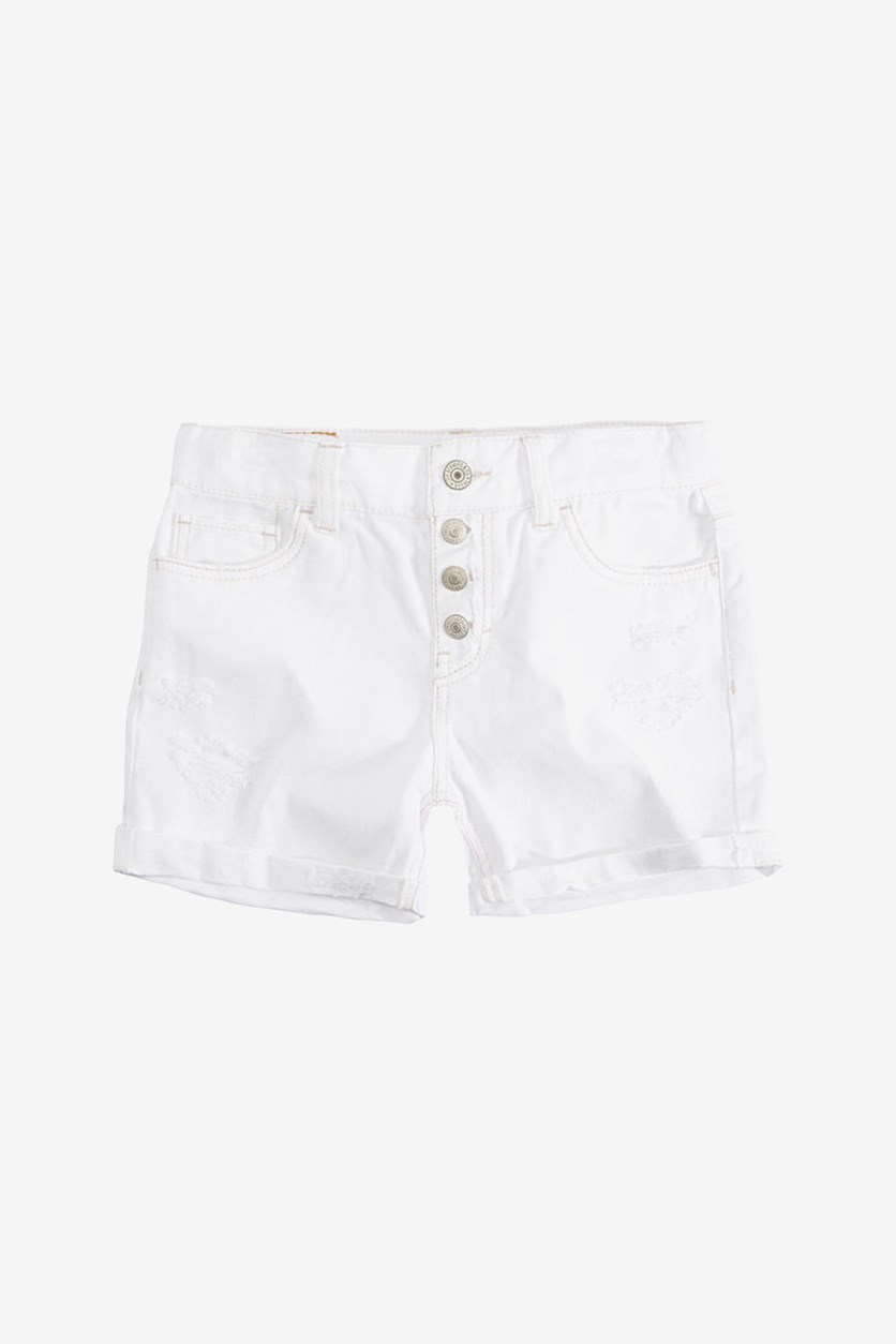 Big Girls Girlfriend Snap Fly Short, White
