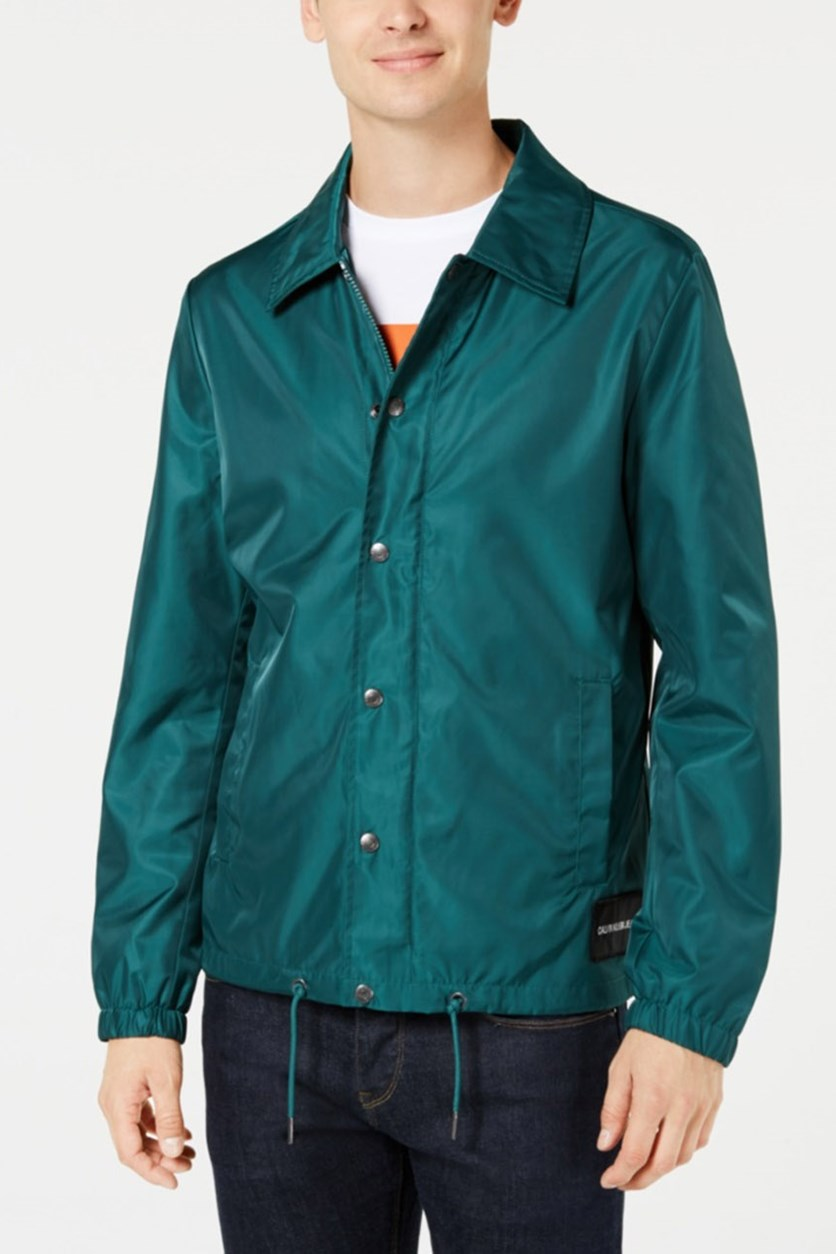 Jeans Men's Monogram Coaches Jacket, June Bug