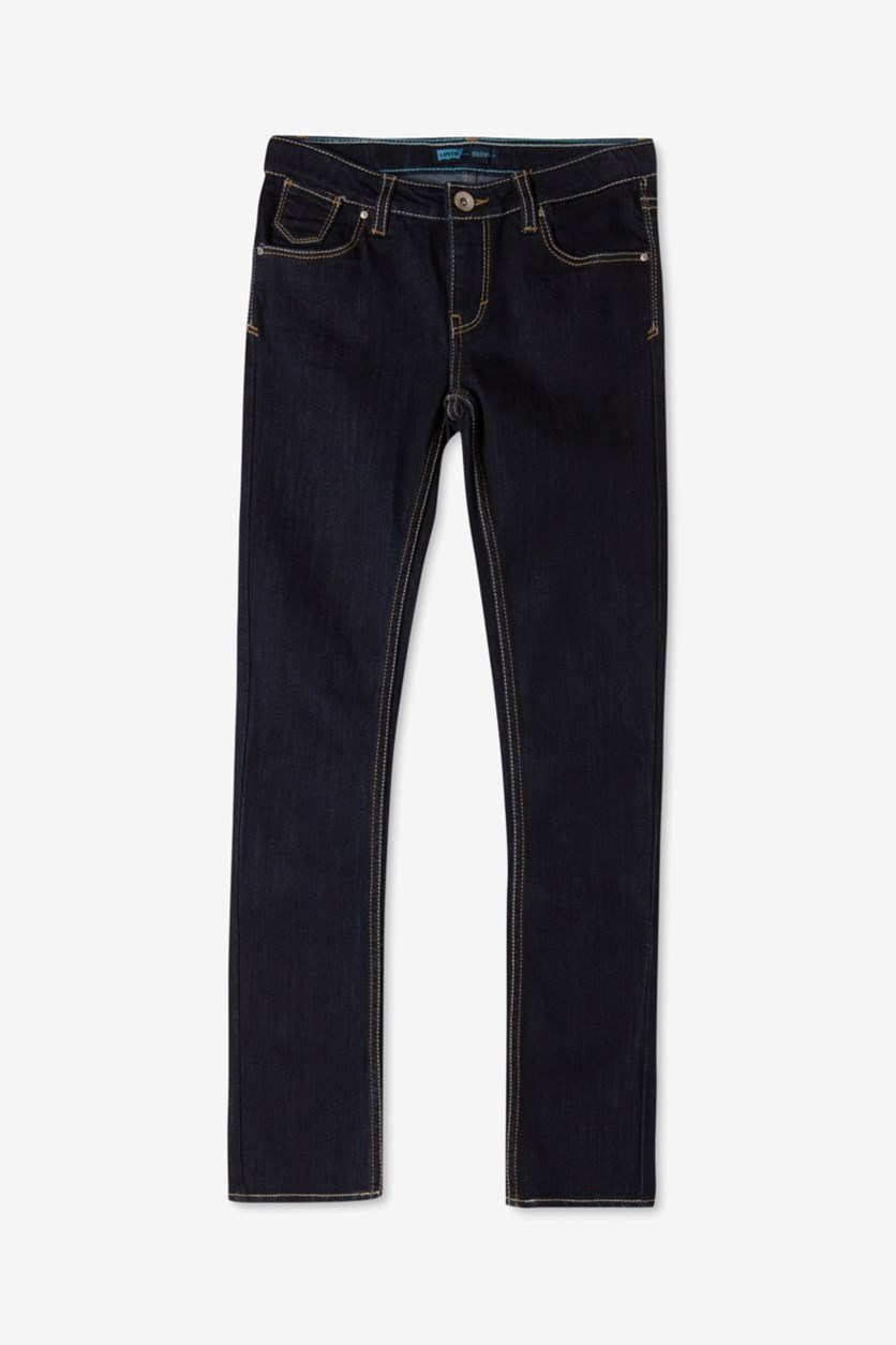 Big Girls Slim Skinny Jeans, Dark Blue