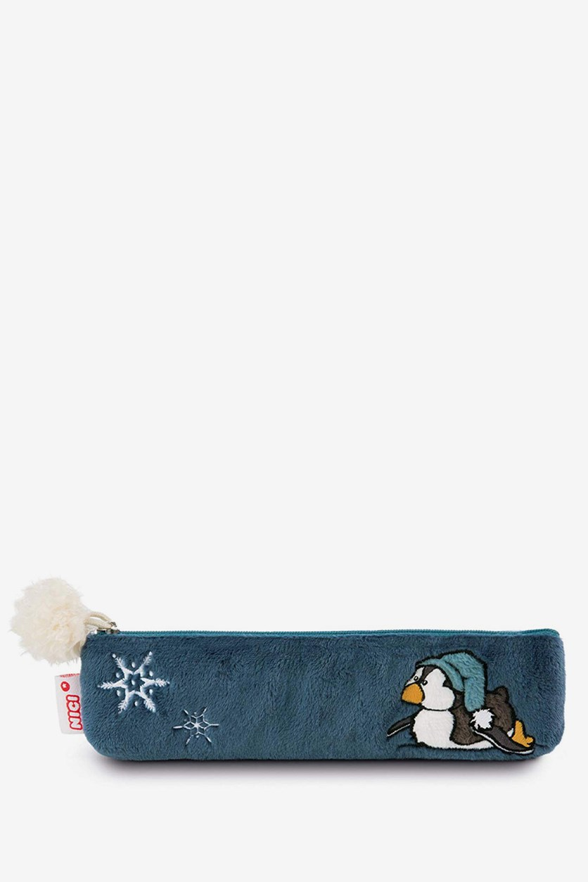 Winter Pencil Case Penguin Toddytom, Blue Combo