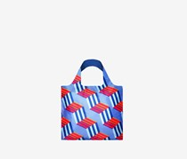 Women's Geometric Cubes Reusable Bag, Blue Combo