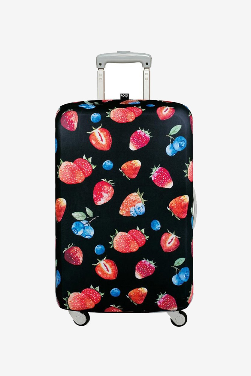 Juicy Luggage Cover Strawberry, Black/Red Combo