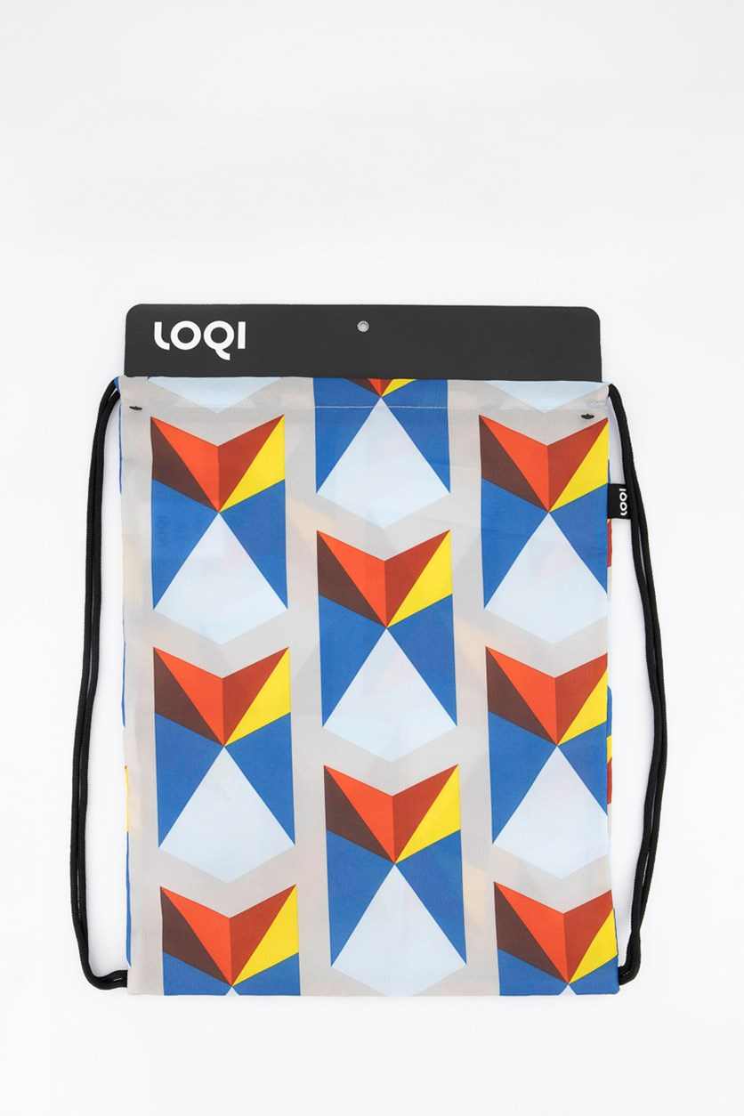 Geometric  Collection Backpacks, Blue/Red Combo