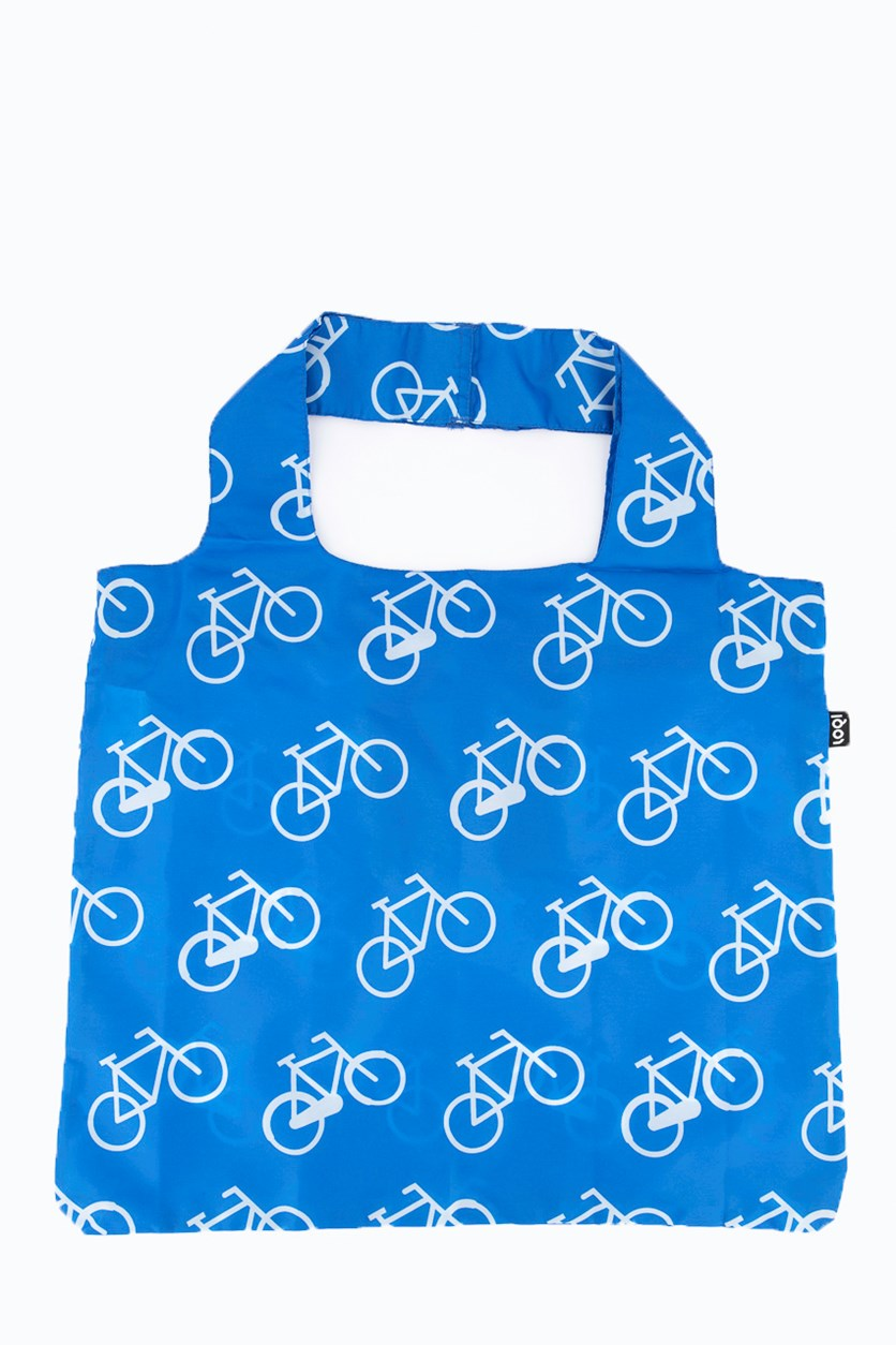 Women's Bicycle Reusable Shopping Bag, Blue