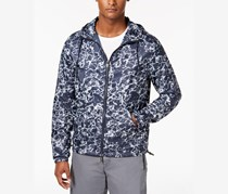 Men's Printed Logo Windbreaker Jacket,  Navy Blazer