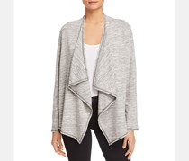 Status by Chenault Women's Heathered Open Front Cardigan Top, Grey