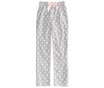 Max & Olivia Girl's Heart-Print Pajama Pants, Grey