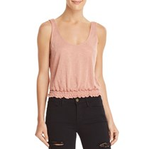 Project Social T Women's Scoop Neck Tank Top, Enchanted Rose