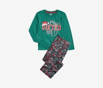 Little & Big Boys 2-Pcs. Gifted Pajamas Set, Green Combo