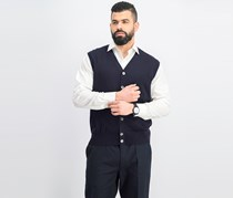 Hackett Men's Sweater Vest, Navy