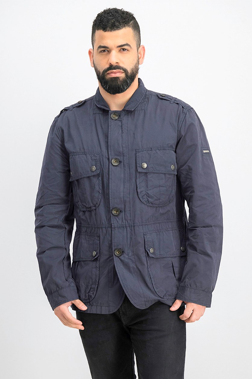 Men's Hybrid Jacket, Navy