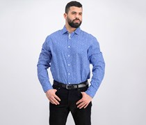 Men's Tailored Fit Shirt, White/Blue