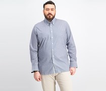 Men's Micro Gingham Shirt, Navy