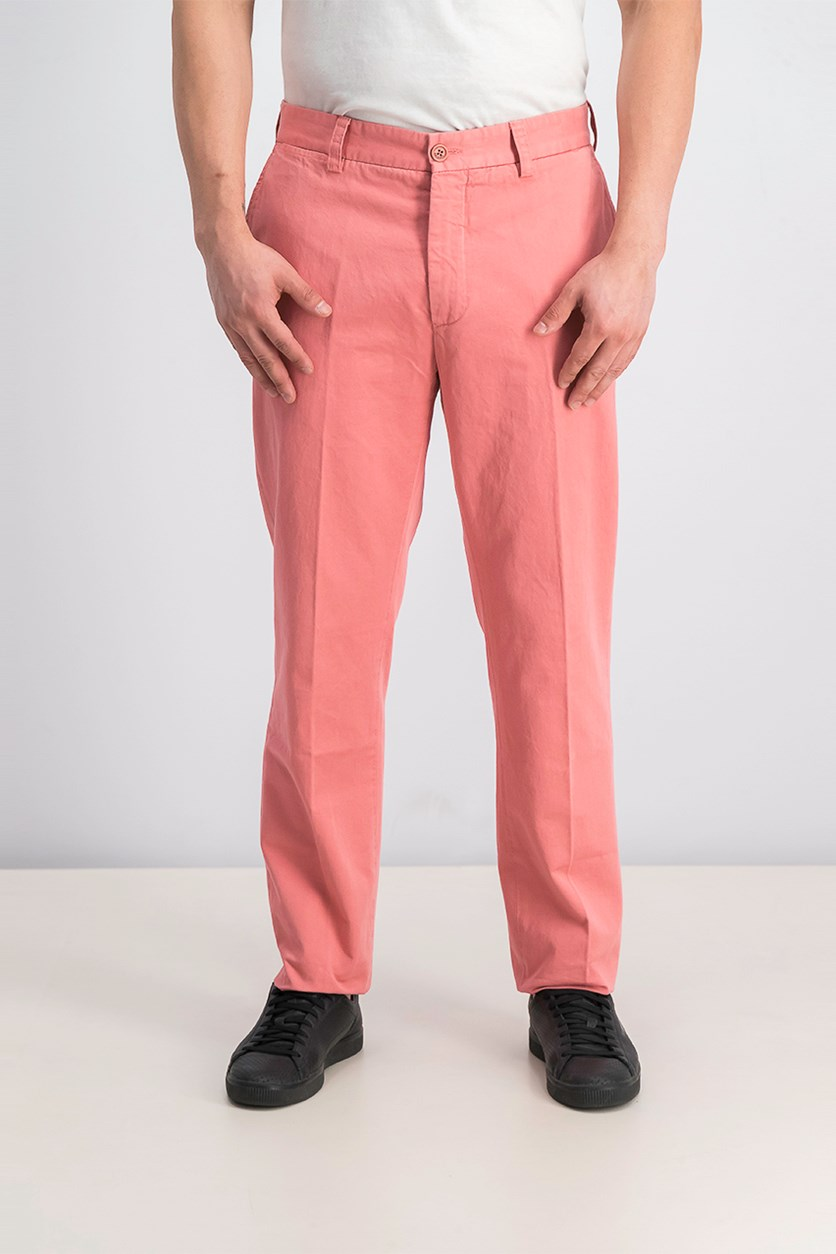 Men's Military Chino Pants, Coral Dust Pink