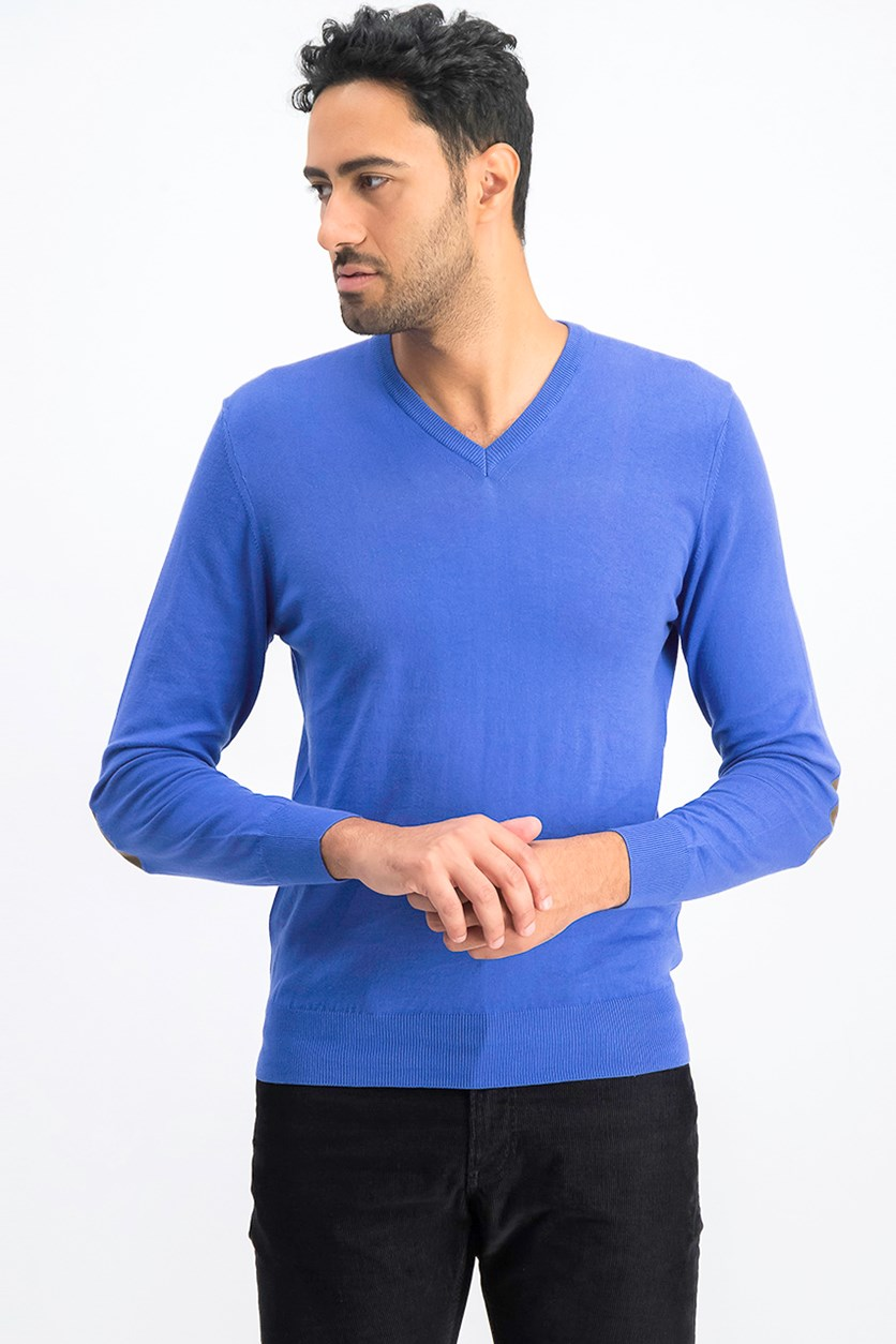 Men's Pullover Sweater, Bright Blue