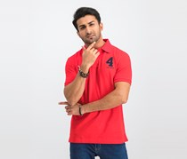 Men's Short Sleeve Classic Polo Shirt, Red