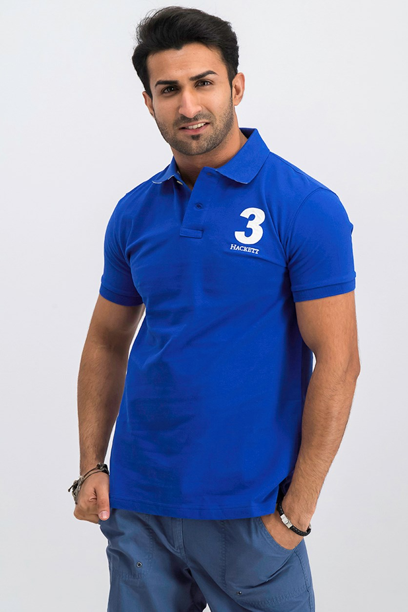 Men's Short Sleeve Classic Fit Polo Shirt, Blue