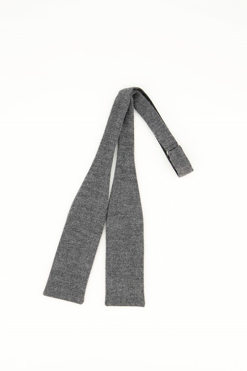 Men's Cavalry Twill Bow Tie, Charcoal
