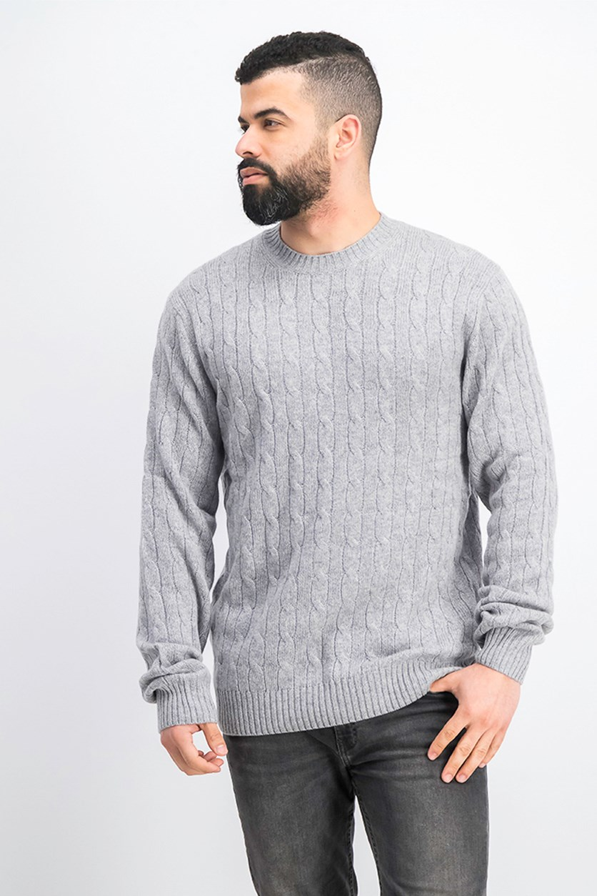 Men's Long Sleeve Sweater, Grey