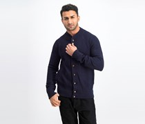 Men's Braided Cardigan, Navy
