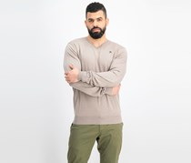 Men's V-Neck Sweater, Pebble