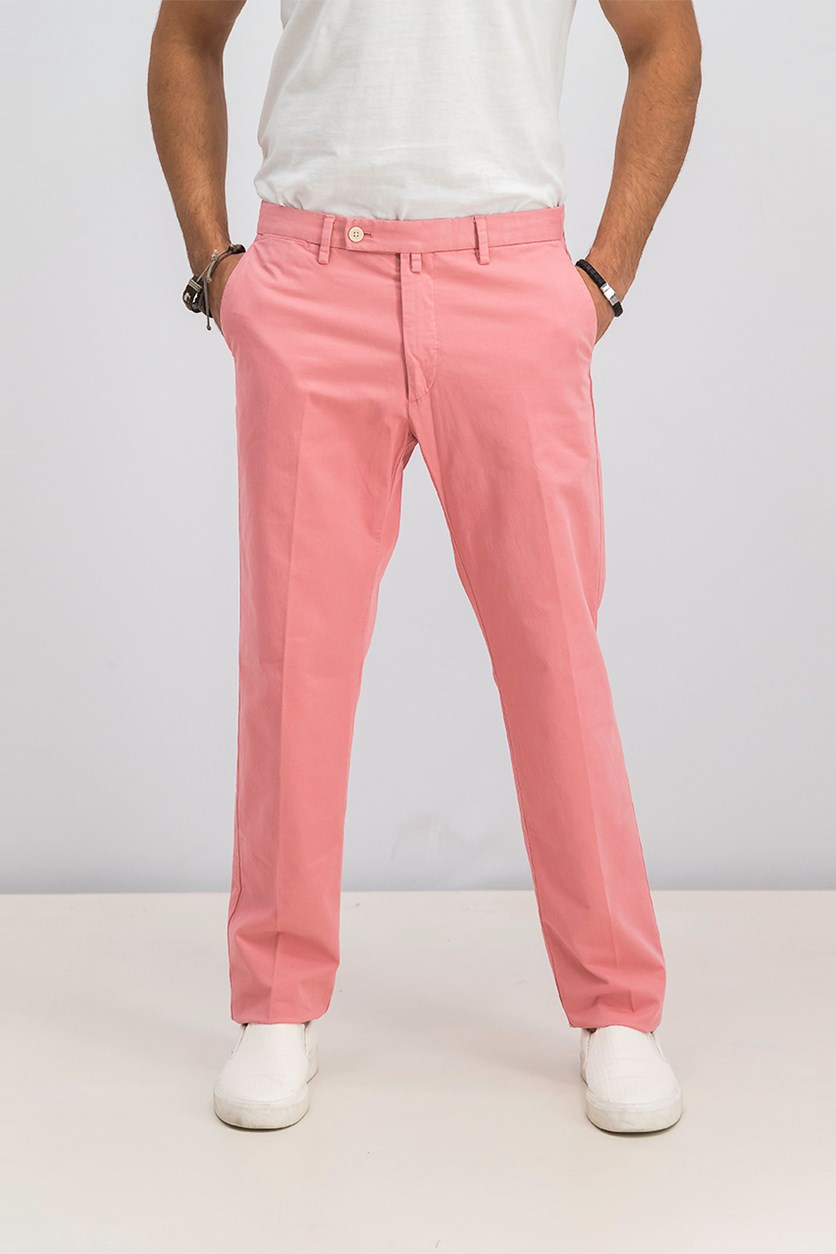 Men's Sanderson Tailored Chino Pants, Peach