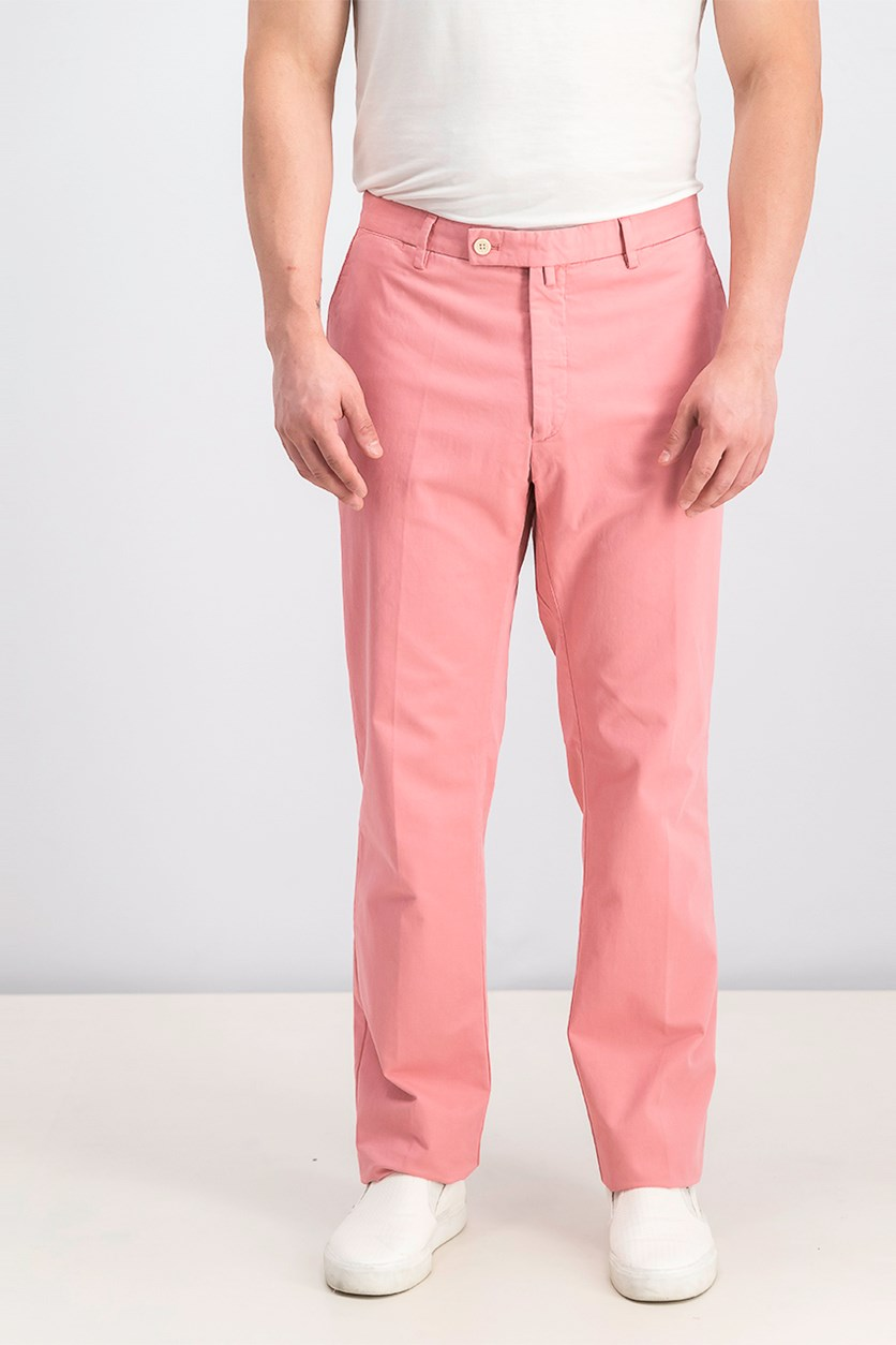 Men's Plain Pants, Peach