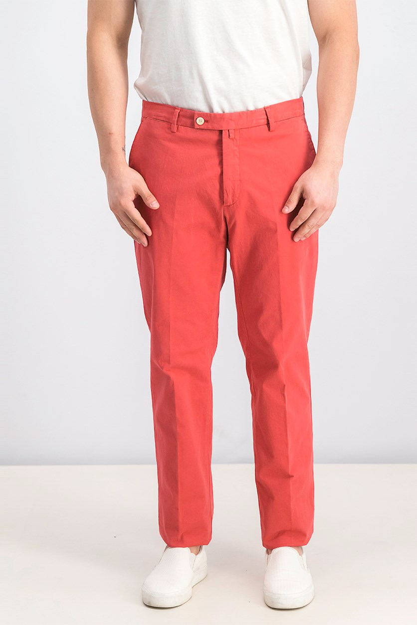 Men's Plain Pants, Red