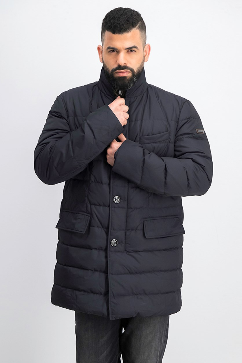Men's Quilted Jacket, Navy