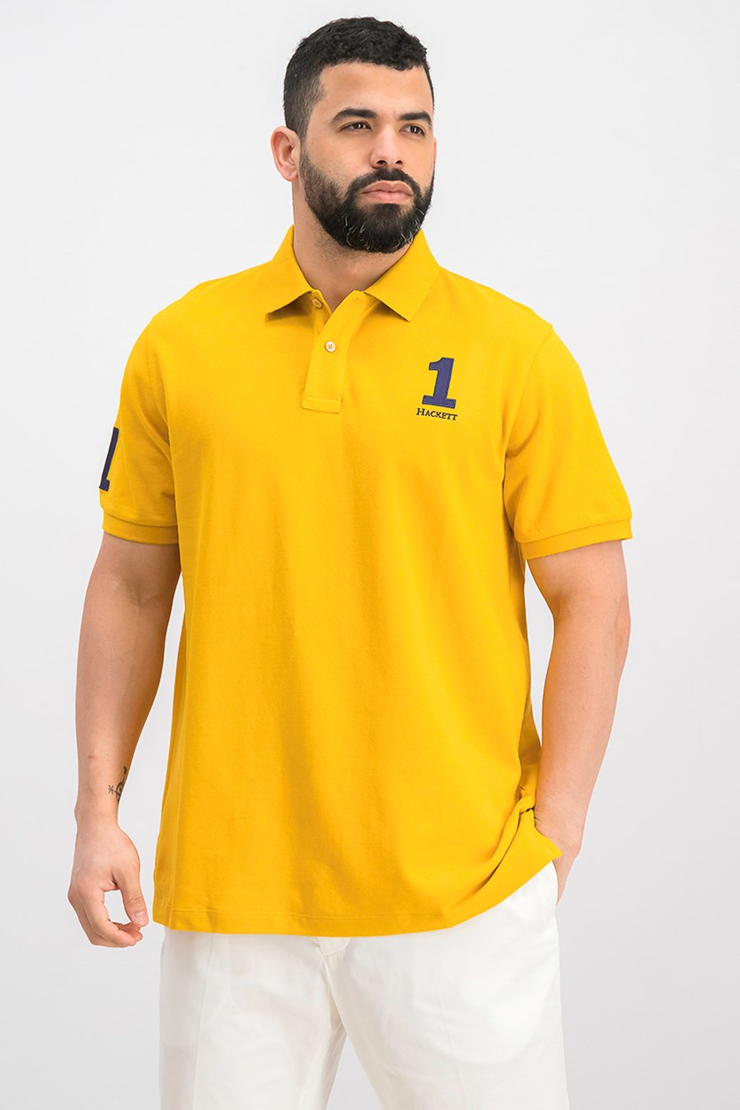 New Classic Numbered Polo Shirt, Gold