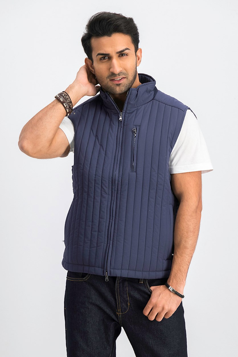 Men's Quilted Vest, Navy